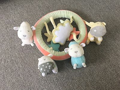 Mothercare Soft Unisex Musical Cot Mobile Animals Stars