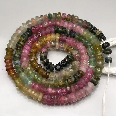 30.75 ct.NATURAL GEMS! MULTI-COLOR TOURMALINE BEAD STRAND