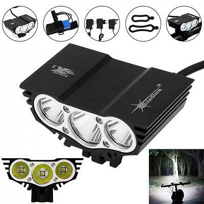 10000LM Solarstorm CREE XM-L U2 LED 4 Modes Bicycle Headlamp + Battery + Charger