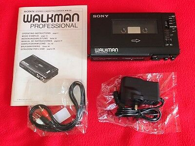 Sony Walkman Professional WM-D6 TC-D6 pred. WM-D6C manual DC Adapter  Audiocable