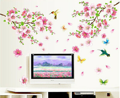 Removable Flowers Wall Stickers Decal Art Vinyl Flower Mural Home Room Decor DIY