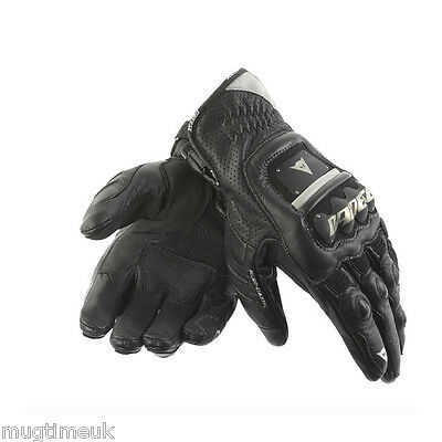 Dainese 4 Stroke Short Leather Motorcycle Gloves - Black - Size XL