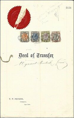 South Afrika 1916, Deed of Transfer, KGV  1/-s. 5/-s, 10/-s  2Pd (Barefoot Nr.