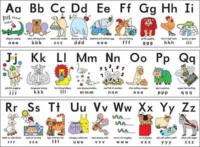 16093  My ABC Alphabet Learn table Wall Print POSTER UK