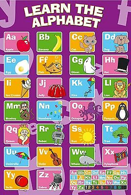 16094 My ABC Alphabet Learn table Wall Print POSTER UK