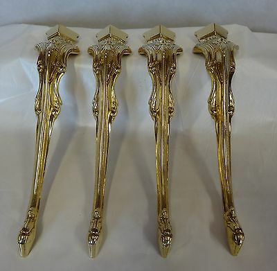Reproduction Antique Brass Furniture Holders Legs Ornate Cast