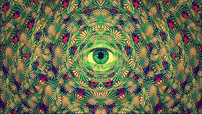 18912  Psychedelic Trippy Art Wall Print POSTER AU
