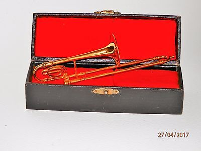 Miniature Trombone in case