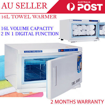 2 in 1 16L UV Light Facial Spa Sterilizer Salon Cabinet Heater Hot Towel Warmer
