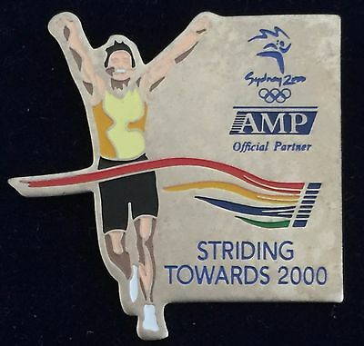 Sydney 2000 Olympic pins - AMP Official Sponsor  Striding towards 2000 Pin