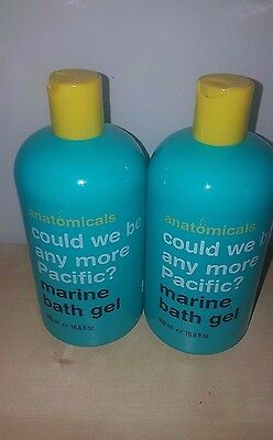 "2 x 500ml Anatomicals Marine Bath Gel Foam 'Could We Be Any More Pacific"" - NEW"