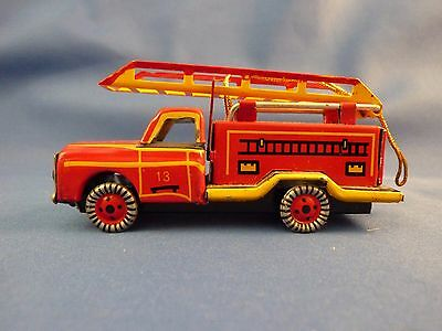 Schylling Tin Toy And Christmas Ornament -- Fire Engine