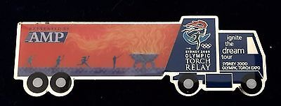 Sydney 2000 Olympic pins - AMP Ignite the dream torch relay truck pin