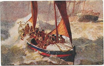 2190 PC ART WORK RNLI   IN PEACE AND WAR UNPOSTED c1910