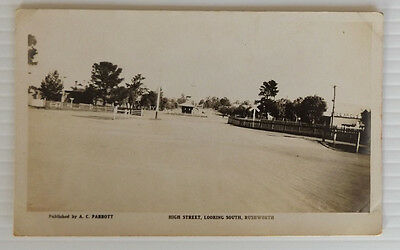 Real Photo Postcard High Street Looking South Rushworth  Victoria Australia