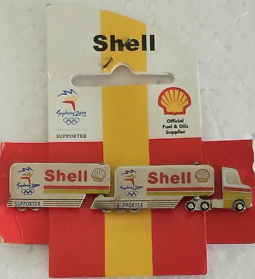 Sydney 2000 Olympic pins - SHELL  Fuel Truck with Moving Wheels