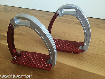 Tech Stirrups Venice Young  Red/Silver
