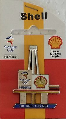 Sydney 2000 Olympic pins - SHELL  Oil Drilling Rig Pin
