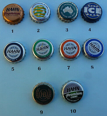 10  Hahn Brewing Crown Seal Beer Bottle Caps from Australia (Lot 4 )