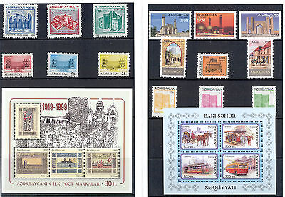 Azerbaijan - Lot of Stamps and Souvenir Sheets 1993 - 2000 MNH **