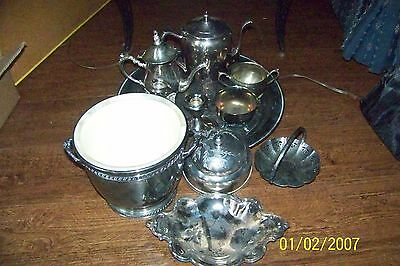 Gorham Candlesticks, Winthrop & Silver Plate Assortment Mixed Lot of 11 pieces