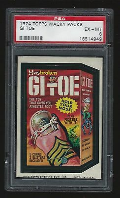 1974 Topps Wacky Packages GI Toe PSA 6 Tough 9th Series