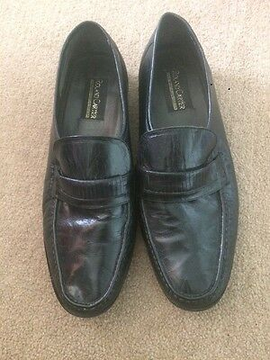 Roland Cartier Men's Black Leather Loafer Shoes - Size 11
