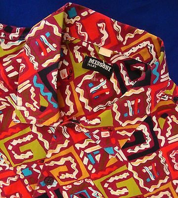 SHIRT man  vintage MISSONI Mare  TG.XL  made Italy  RARE