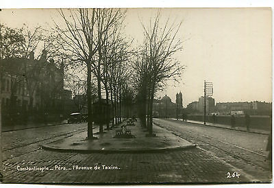 1920s postcard Avenue de Taxim Péra CONSTANTINOPLE Turkey