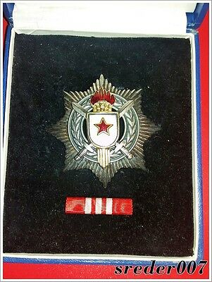 Yugoslavia - Order of Military Merit with Silver swords - box + assurance