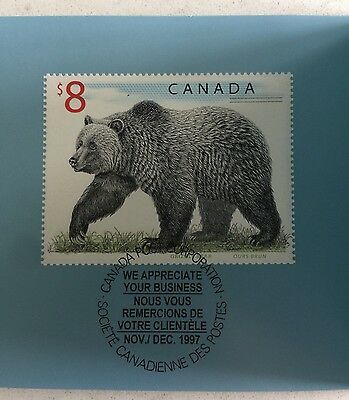 1997 Canada Post $8 Exclusive Business Appreciation Stamp