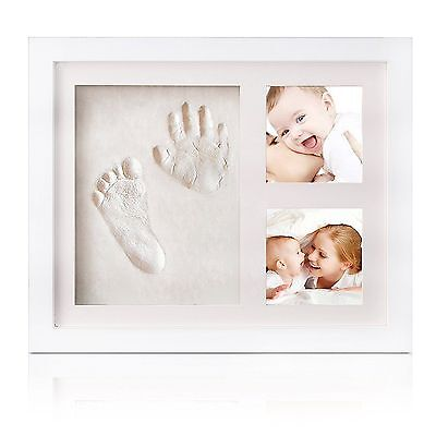 Baby Handprint and Footprint Frame Kit - Solid Wood Photo Frame Decorations