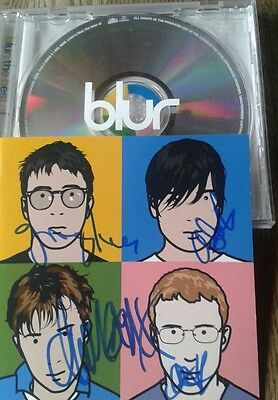 Blur The Best Of Fully Autographed Signed CD Album Record MINT INDIE BRITPOP