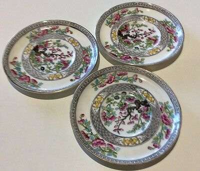 3 Small AYNSLEY Coffee Cup Saucers