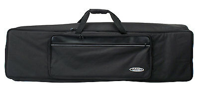 PADDED KEYBOARD GIGBAG CARRY CASE BAG BACKPACK 2 POCKETS 128 x 32 x 12 CM BLACK
