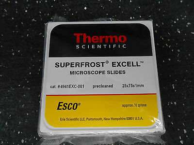 Thermo Scientific 4941Exc-001 Superfrost Excell Microscope Slides ½ Gross
