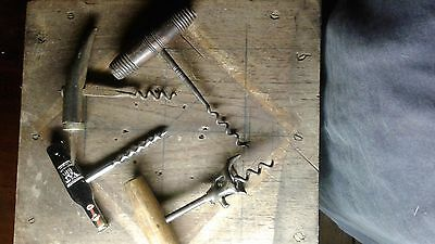 ANTIQUE & VINTAGE CORK SCREWS x 4