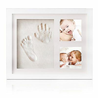 Newborn Baby Handprint and Footprint Picture Frame Kit for Boys and Girls