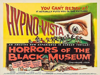 """Horrors of the Black Museum 16"""" x 12"""" Reproduction Movie Poster Photograph"""