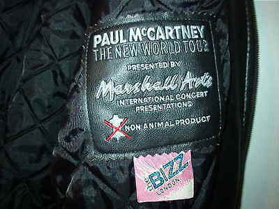 Beatles Paul McCartney The New World Tour in 1993.Authentic Jacket  Sz XL Euro