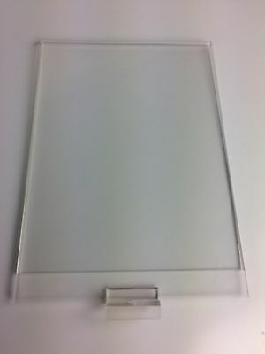 """Slatwall Acrylic Sign Holder - 12"""" x 8 1/2' - 4 signs total"""