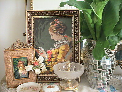 Gorgeous French Lady Tapestry Ornate Gold Frame Create A Paris Apartment
