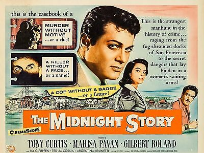 """The Midnight Story 16"""" x 12"""" Reproduction Movie Poster Photograph"""