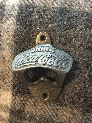 Cast Iron Coca Cola Bottle Opener Wall Mounted