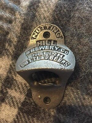 Cast Iron Nottingham Hill Brewery Bottle Opener Wall Mounted