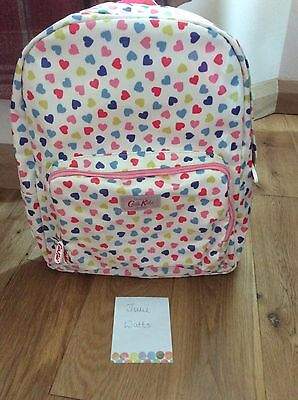 Brand New With Tags Cath Kidston Large Kids Confetti Hearts Oilcloth Backpack