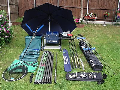 match fishing set up, maver, shimano, preston ect