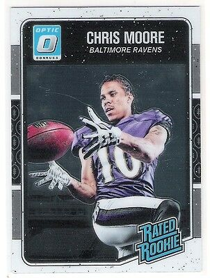 Chris Moore 2016 Donruss Optic O Rated Rookie Card - Baltimore Ravens