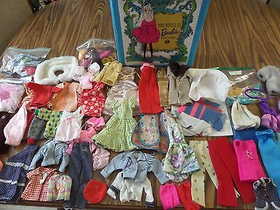Vintage Barbie Clothes and Case and Doll Clothes and Accessories large lot