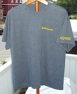 New NEW HOLLAND Clinton Tractor & Implement Co. Advertising T-Shirt Sz. L